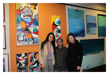 Danielle Molinski, Carly Ivan Garcia, and Agne Correll at Room Interior Art Gallery in San Rafael, CA : : Art Walk : January 14, 2011