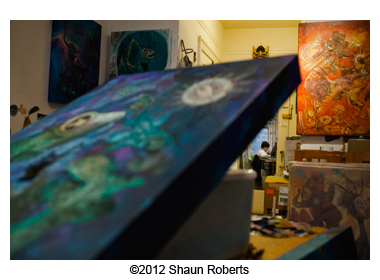 Artist David Ball studio