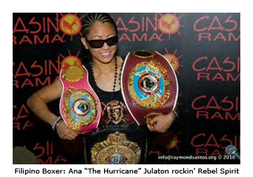 "Filipino Boxer, Ana ""The Hurricane"" Julaton in Rebel Spirit"