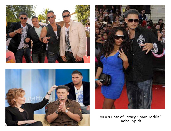 MTV's Cast of Jersey Shore rockin' Rebel Spirit