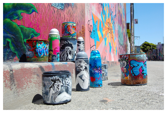 Jessica Hess Artwork : Porcelain Spray Paint Cans