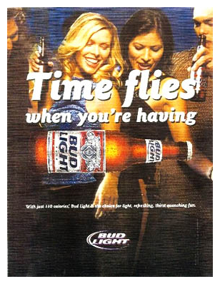 Jon Nielsen in Bud Light Print Ad