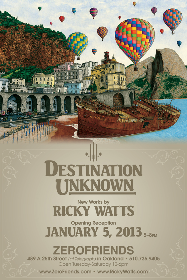 """Destination Unknown"" New Works by Ricky Watts"