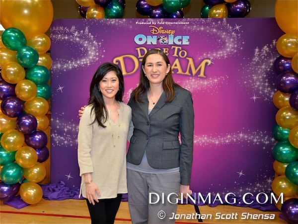 Olympic Gold Medalist Kristi Yamaguchi and Dig In Magazine's Editor-in-Chief Cindy Maram at Always Dream Foundation Book Reading | Disney On Ice: Dare To Dream | Photo by Jonathan Scott Shensa