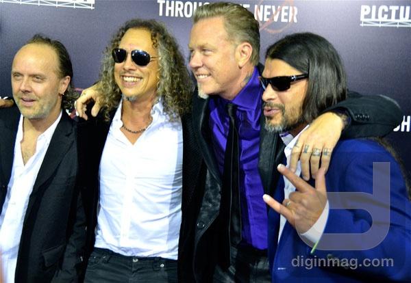 U.S. Premiere of Metallica: Through the Never | Lars Ulrich, Kirk Hammett, James Hetfield and Robert Trujillo