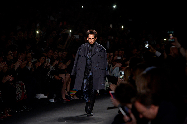 ZOOLANDER 2: Derek Zoolander walks the runway at the Valentino Fashion Show during Paris Fashion Week | Photo by Pascal Le Segretain/Getty Images For Paramount Pictures