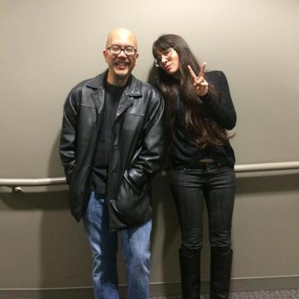 "Scott ""CHOPS"" Jung and 9-MAN director Ursula Liang"