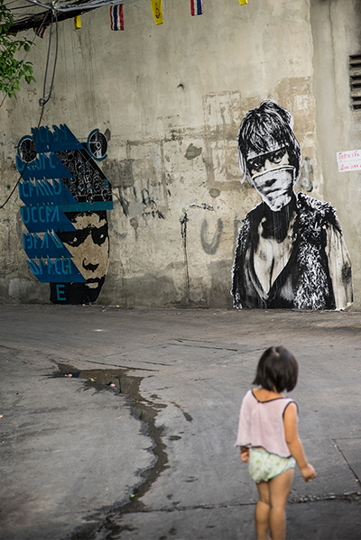 D Young V and Eddie Colla Thailand Street Art