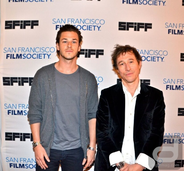 'Saint Laurent ' actor Gaspard Ulliel and director Bertrand Bonello on the red carpet at the 58th San Francisco International Film Festival, Photo by Jonathan Shensa for Dig In Magazine