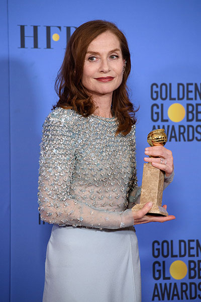 "Hollywood Foreign Press Association | ""Elle,"" actress Isabelle Huppert"
