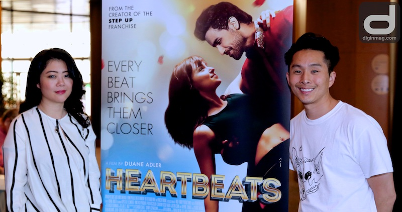 HEARTBEATS DGA Screening |Producer Andrea Chung and Actor Justin Chon | Photo by Cindy Maram