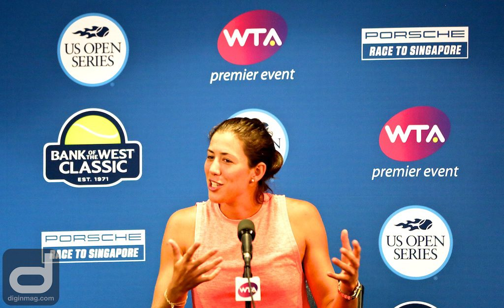 2016 French Open and 2017 Wimbledon Champion Garbine Muguruza at the 2017 Bank of the West Classic | Photo by Cindy Maram/Dig In Magazine
