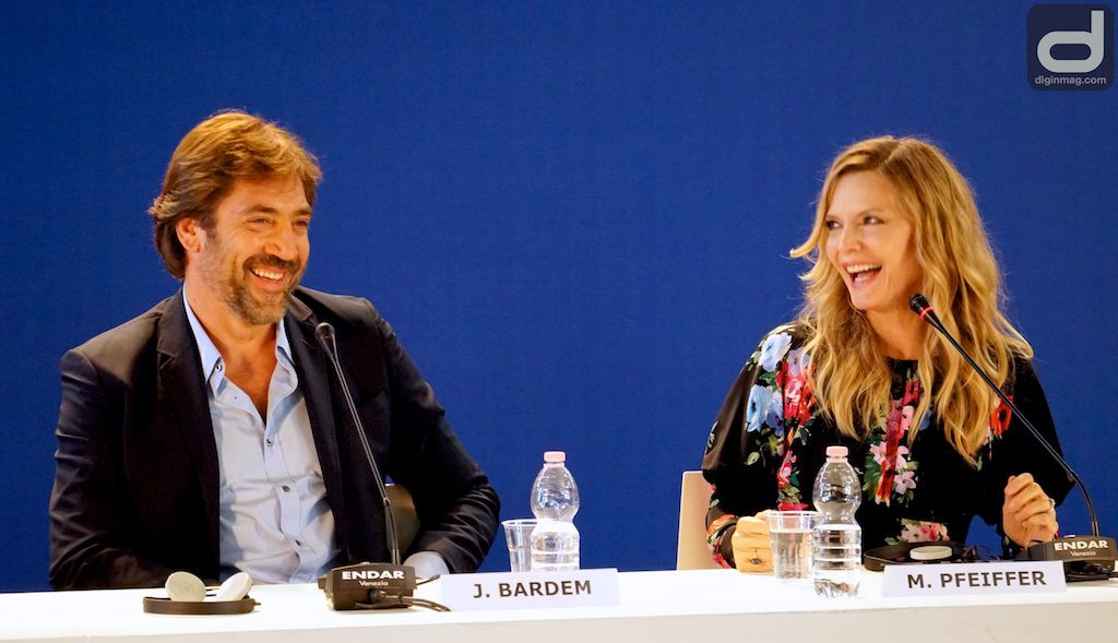 MOTHER! | Venice Film Festival 2017 | Javier Bardem and Michelle Pfeiffer | Photo by Cindy Maram/Dig In Magazine