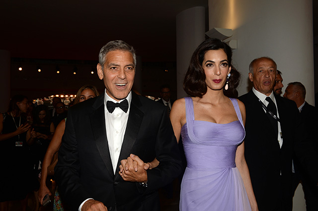 George Clooney and Amal Aladdin at SUBURBIOCN World Premiere at Venice Film Festival 2017