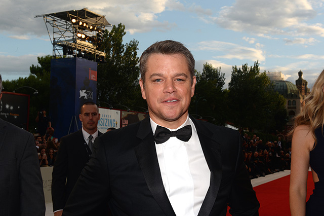 Matt Damon on the red carpet at Venice Film Festival 2017 SUBURBICON World Premiere