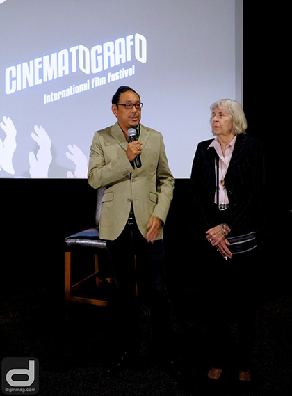 Larsen Associates' Corey Tong and Karen Larsen introduce Cinematografo International Film Festival at the official press conference | Photo: Cindy Maram