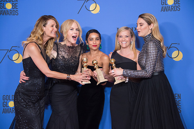 75th Golden Globe Awards: Big Little Lies awarded Best Television Limited Series or Motion Picture Made for Television Laura Dern, Nicole Kidman, Zoe Kravitz, Reese Witherspoon, and Shailene Woodley