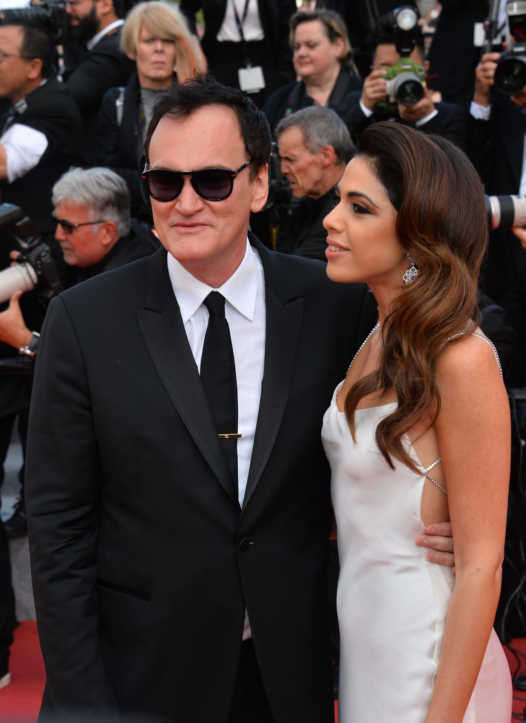 "CANNES, FRANCE. May 21, 2019: Quentin Tarantino & Daniela Pick at the gala premiere for ""Once Upon a Time in Hollywood"" at the Festival de Cannes. Picture: Paul Smith / Featureflash"