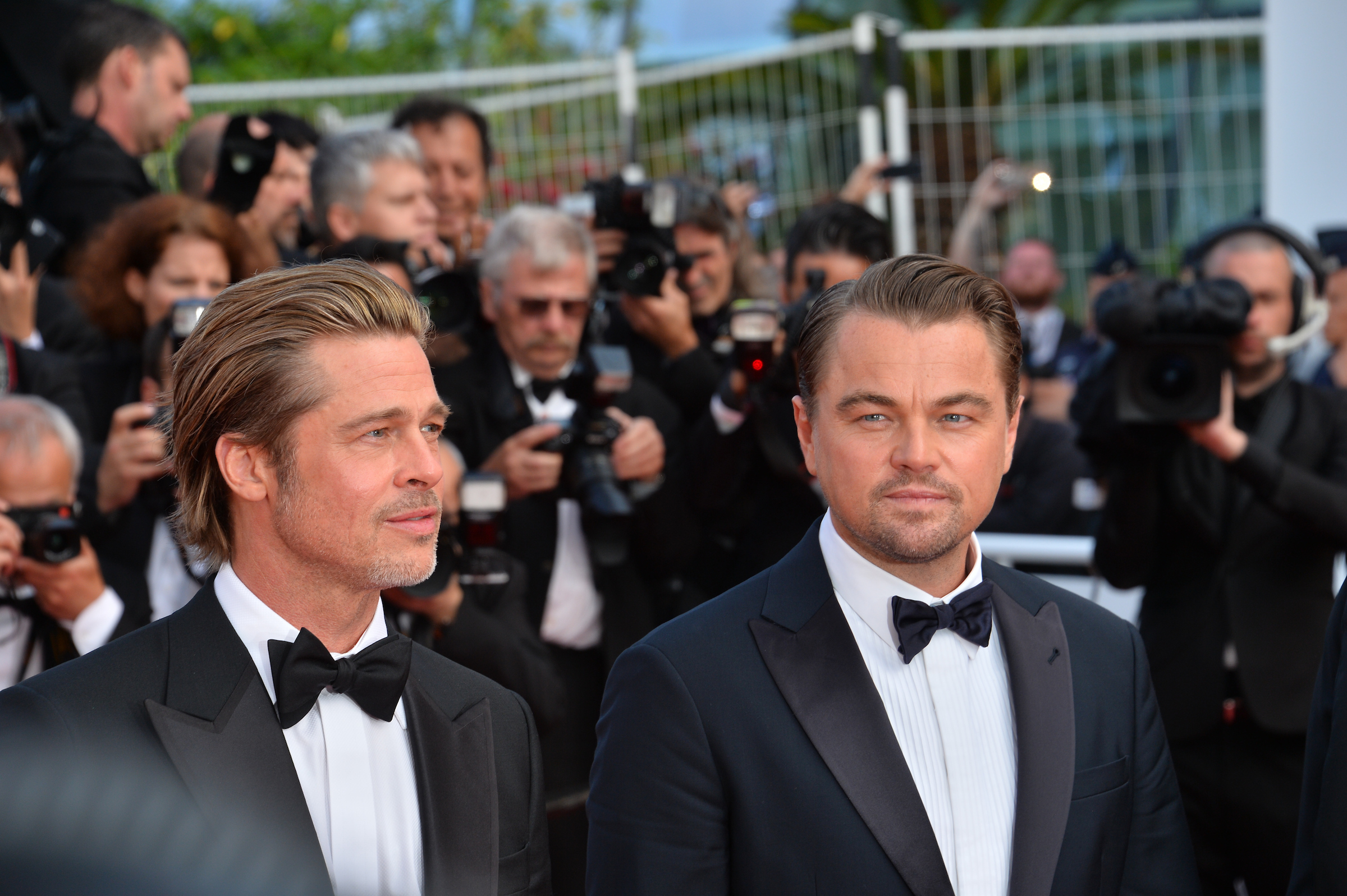 "CANNES, FRANCE. May 21, 2019: Brad Pitt & Leonardo DiCaprio at the gala premiere for ""Once Upon a Time in Hollywood"" at the Festival de Cannes. Picture: Paul Smith / Featureflash"